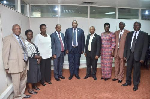 Minister of Local Government together with Commission Members